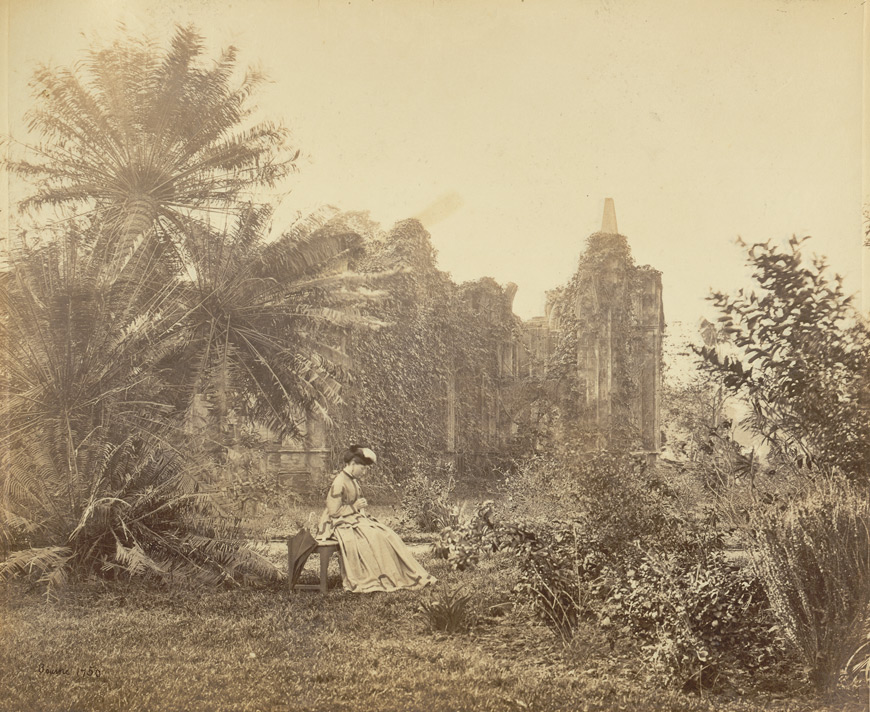 Gothic ruin with creepers in Barrackpore Park